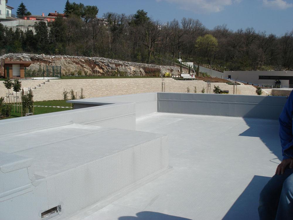 Ugrađena hidroizolacijska PVC membrana Protan SE 1.6mm - detalji